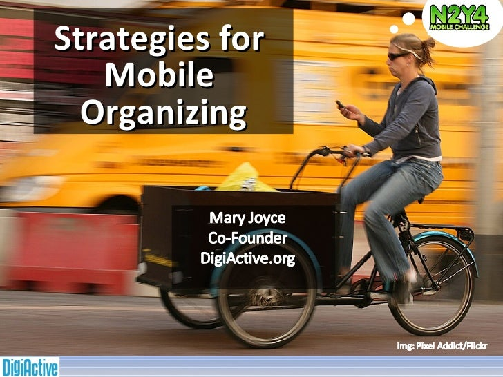 Strategies for  Mobile  Organizing