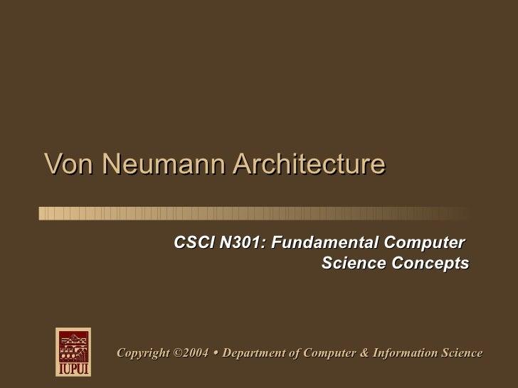 N301 von neumann architecture for Architecture von neumann