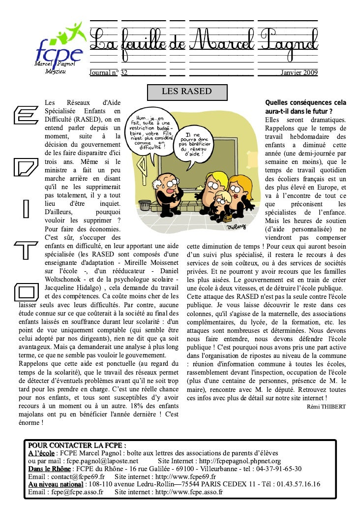 La feuille de MarcelPagnol                          Journal n° 32                                                         ...