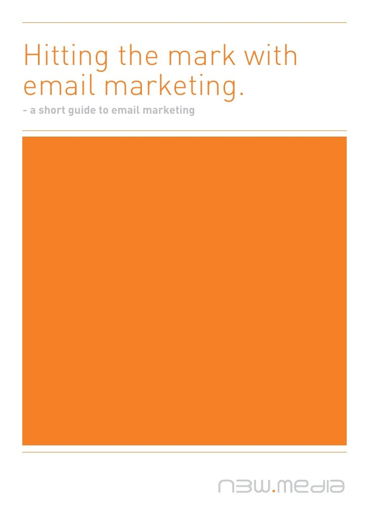 Hitting the mark with email marketing.