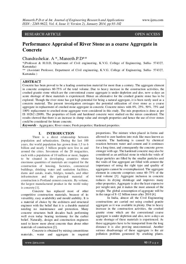 Maneeth.P.D et al Int. Journal of Engineering Research and Applications ISSN : 2248-9622, Vol. 4, Issue 1( Version 2), Jan...