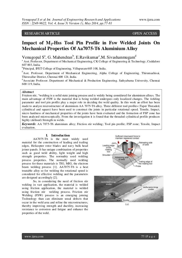 Venugopal S et al Int. Journal of Engineering Research and Applications www.ijera.com ISSN : 2248-9622, Vol. 4, Issue 5( V...