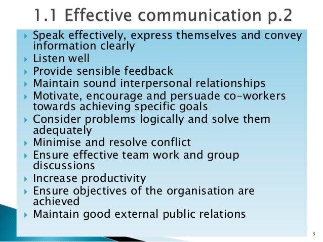 basic principles of effective communication