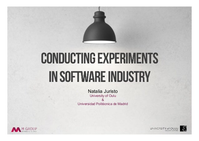 Natalia Juristo University of Oulu & Universidad Politécnica de Madrid