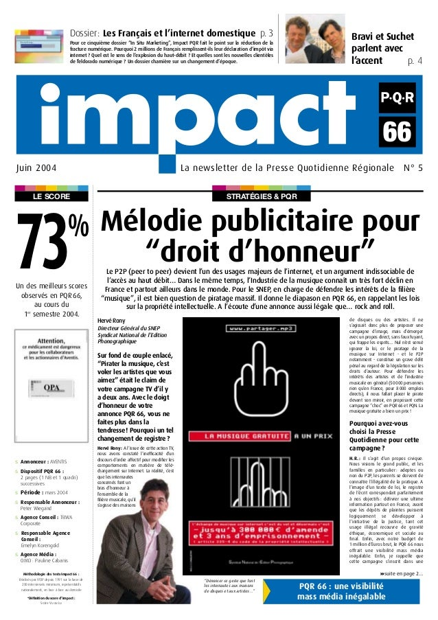 STRATÉGIES & PQRLE SCORE Bravi et Suchet parlent avec l'accent p. 4 Dossier: Les Français et l'internet domestique p. 3 Po...