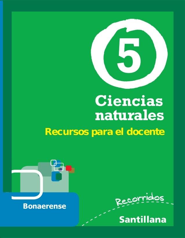Ciencias naturales Santillana 5 Recursos para el docente Bonaerense
