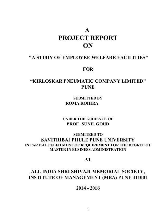 Employee welfare thesis