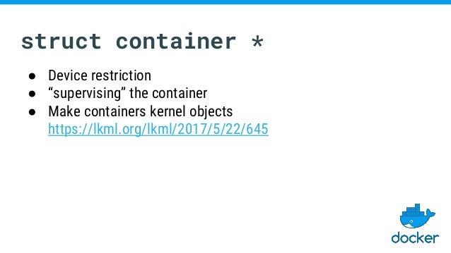 Container-relevant Upstream Kernel Developments