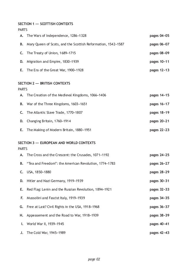 N5 sample paper history