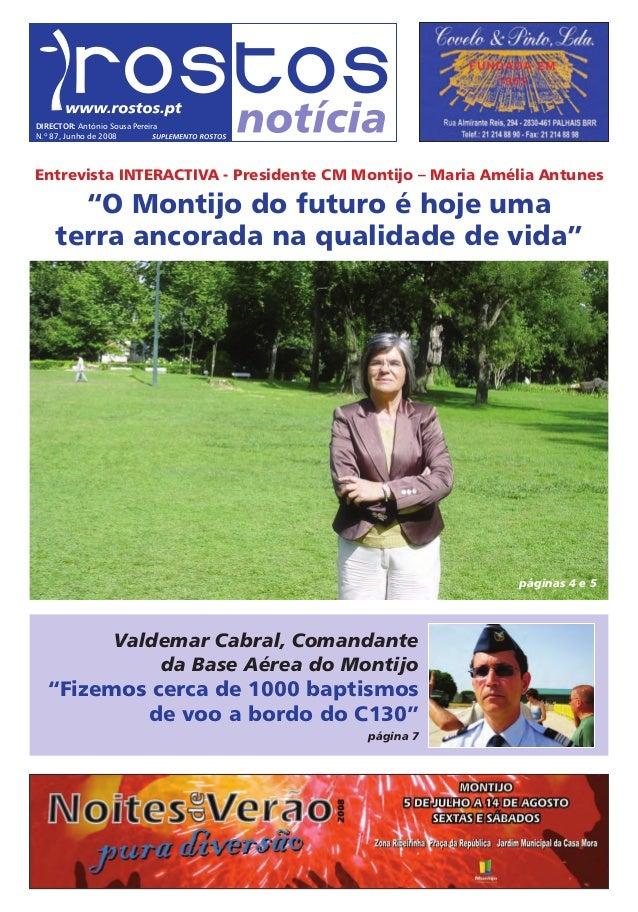 """Entrevista INTERACTIVA - Presidente CM Montijo – Maria Amélia Antunes """"O Montijo do futuro é hoje uma terra ancorada na qu..."""