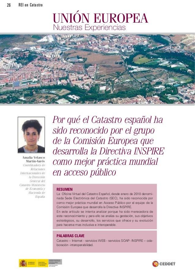 Revista de la red de expertos iberoamericanos en catastro n 6 for Oficina virtual del catastro