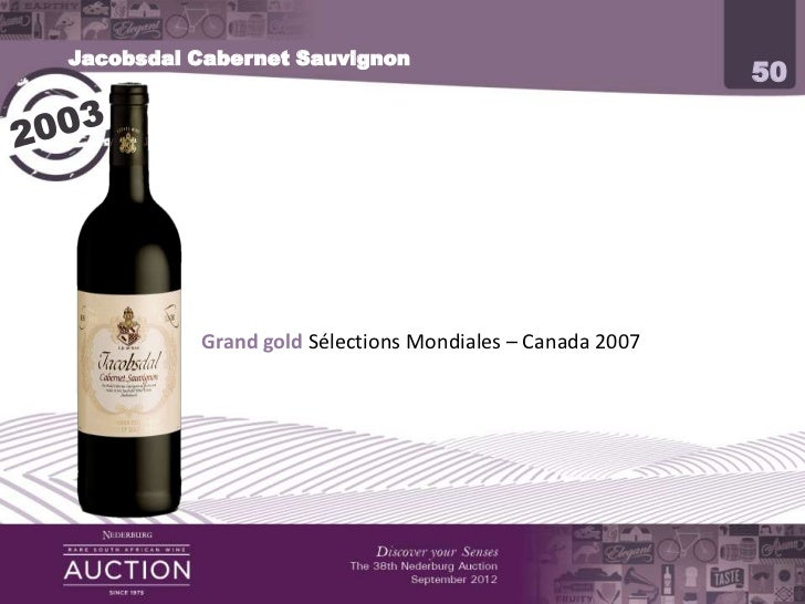 2012 Nederburg Auction Producer Presentation