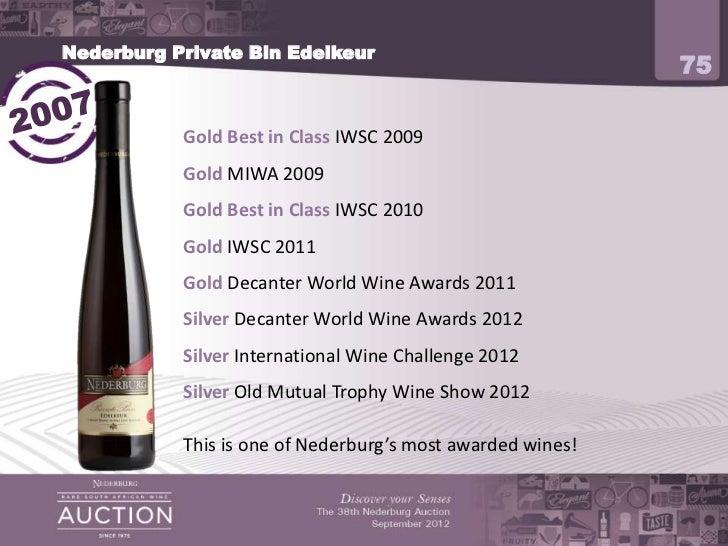 2012 Nederburg Auction Producer Presentation