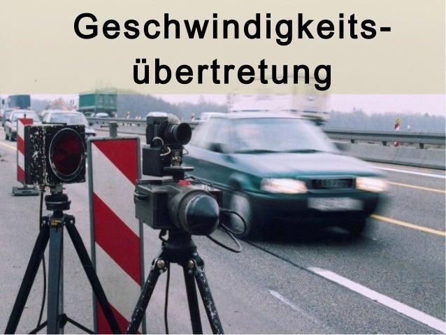 Geschwindigkeits-übertretung