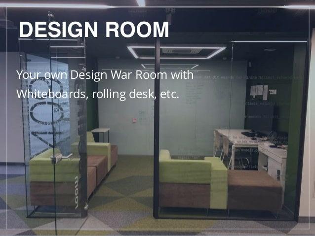 DESIGN ROOM Your own Design War Room with Whiteboards, rolling desk, etc.