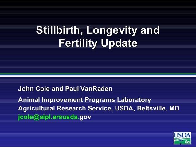 200 5 John Cole and Paul VanRadenJohn Cole and Paul VanRaden Animal Improvement Programs Laboratory Agricultural Research ...