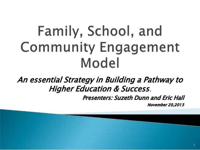 An essential Strategy in Building a Pathway to Higher Education & Success. Presenters: Suzeth Dunn and Eric Hall November ...