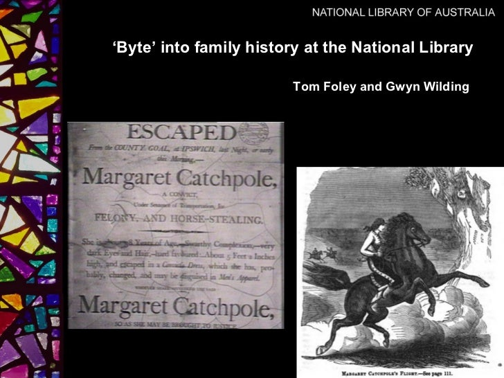 'Byte' into family history at the National Library                         Tom Foley and Gwyn Wilding