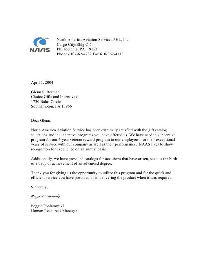Naas Testimonial Letter