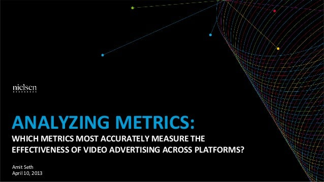 ANALYZING METRICS: WHICH METRICS MOST ACCURATELY MEASURE THE EFFECTIVENESS OF VIDEO ADVERTISING AC...