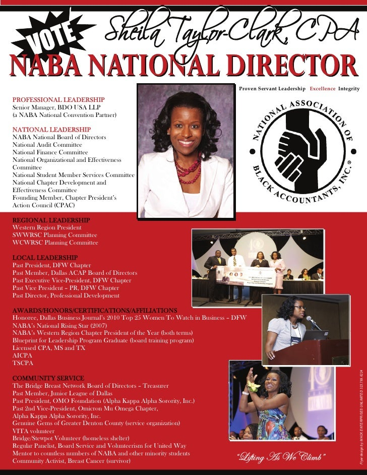 Literature designed for the national association of black accountants 2 proven servant leadership excellence integrityprofessional malvernweather Image collections