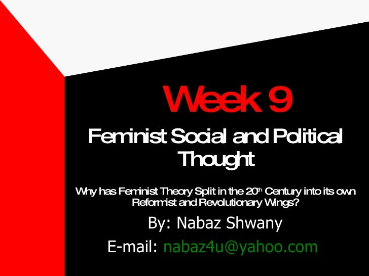 <ul><li>Feminist Social and Political Thought </li></ul><ul><li>Why has Feminist Theory Split in the 20 th  Century into i...