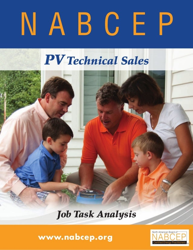 NABCEP PV Technical Sales Job Task Analysis 09.10 • 1Small Wind Resource Guide Rev 1.0 06/07/2010 © NABCEP 2010 N A B C E ...