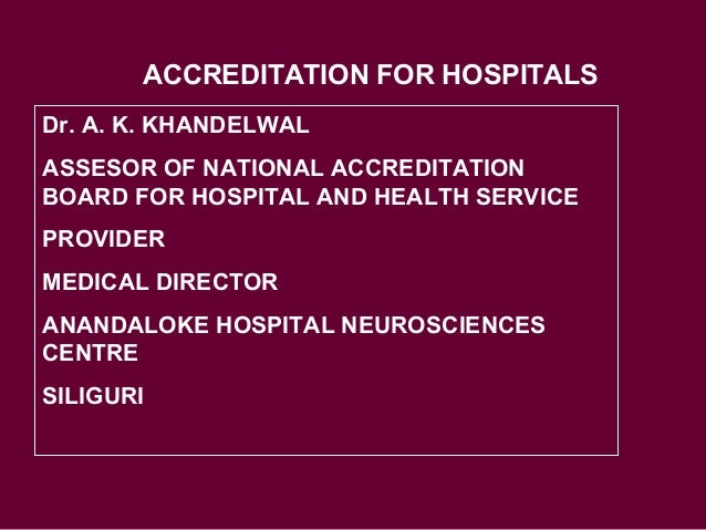 INTRODUCTION TO NABH STANDARDS