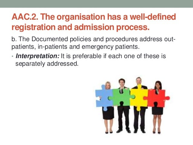 AAC.2. The organisation has a well-defined registration and admission process. c. A unique identification number is genera...