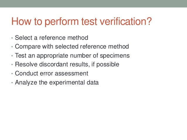QUALITATIVE TESTS • Used to measure the concentration of an analyte; usually expressed as a continuous range of values • M...