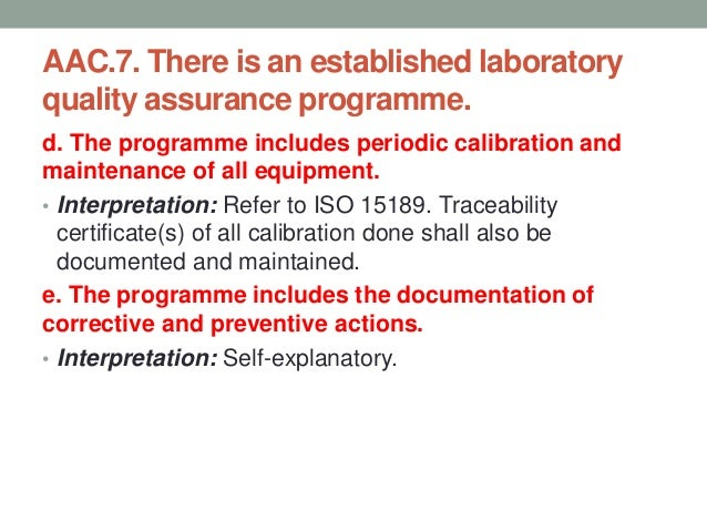 AAC.8. There is an established laboratory-safety programme. a. The laboratory-safety programme is documented. • Interpreta...