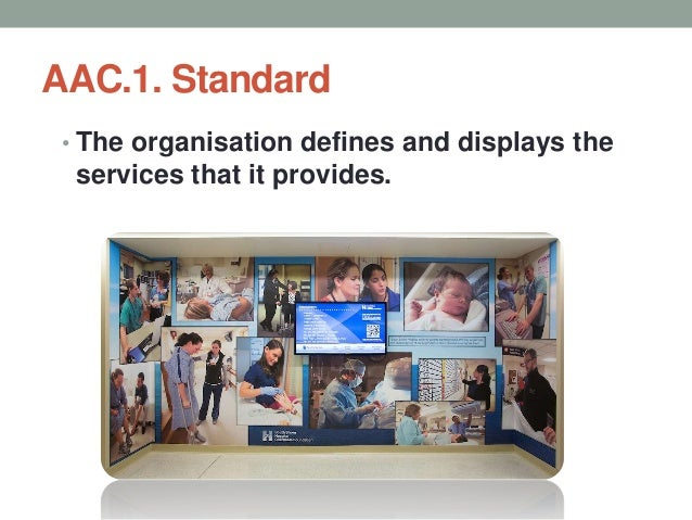 AAC.1. Standard Objective Elements a. The services being provided are clearly defined and are in consonance with the needs...