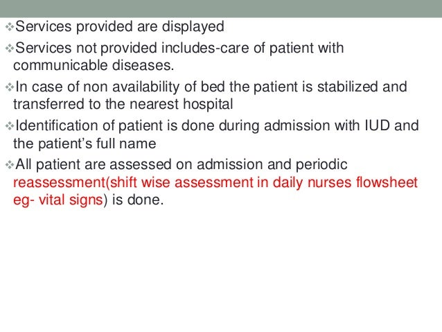 Access, Assessment and Continuity of Care (AAC) NABH