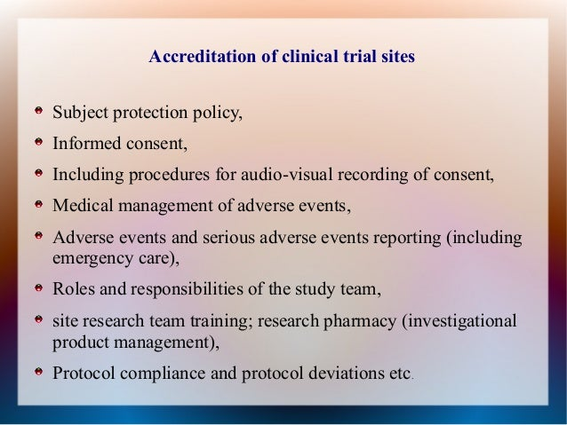 Nabh Accrediation For Clinical Trial
