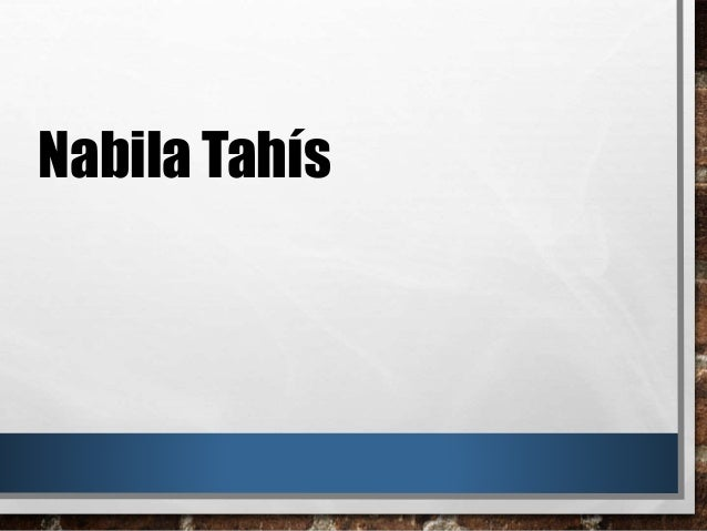 Nabila Tahís