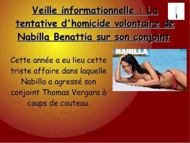 14/01/2015 Tristan Brachi 1 Veille informationnelle: LaVeille informationnelle: La tentative d'homicide volontaire deten...