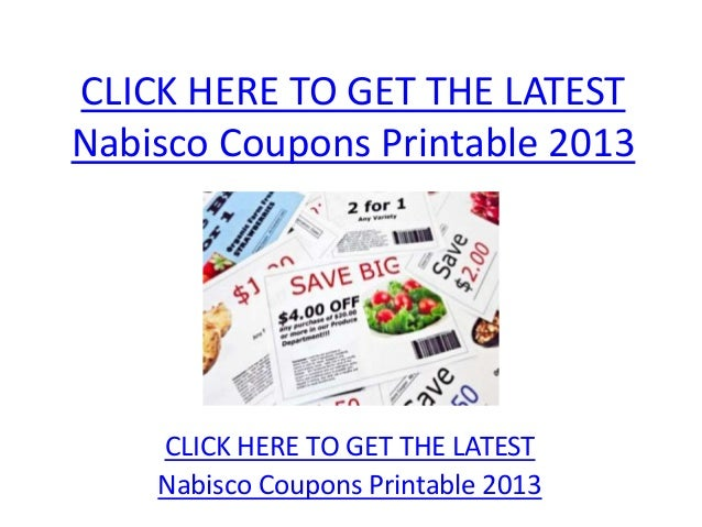 picture regarding Nabisco Printable Coupons called Nabisco Coupon codes Printable 2013 - Nabisco Discount coupons Printable 2013