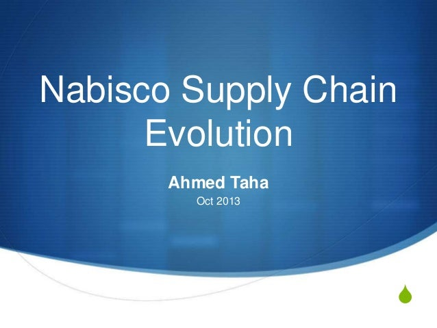 Nabisco Supply Chain Evolution Ahmed Taha Oct 2013  S