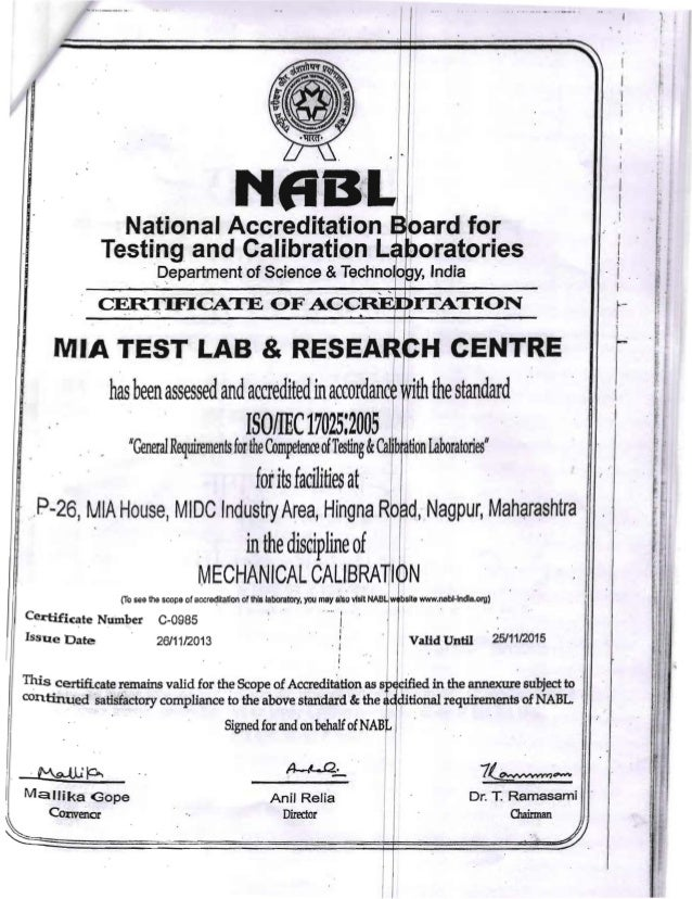 Nabl certificate for calibration 3 yelopaper Image collections