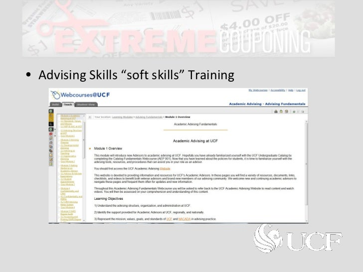 Extreme Couponing for Advisor Training Programs