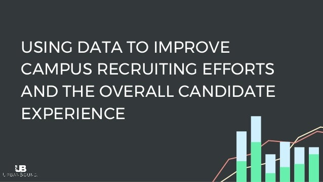 USING DATA TO IMPROVE CAMPUS RECRUITING EFFORTS AND THE OVERALL CANDIDATE EXPERIENCE