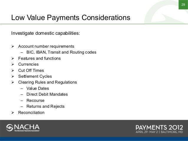 NACHA Payments 2012 - HSBC and Earthport 'Making Low Value Payments W…