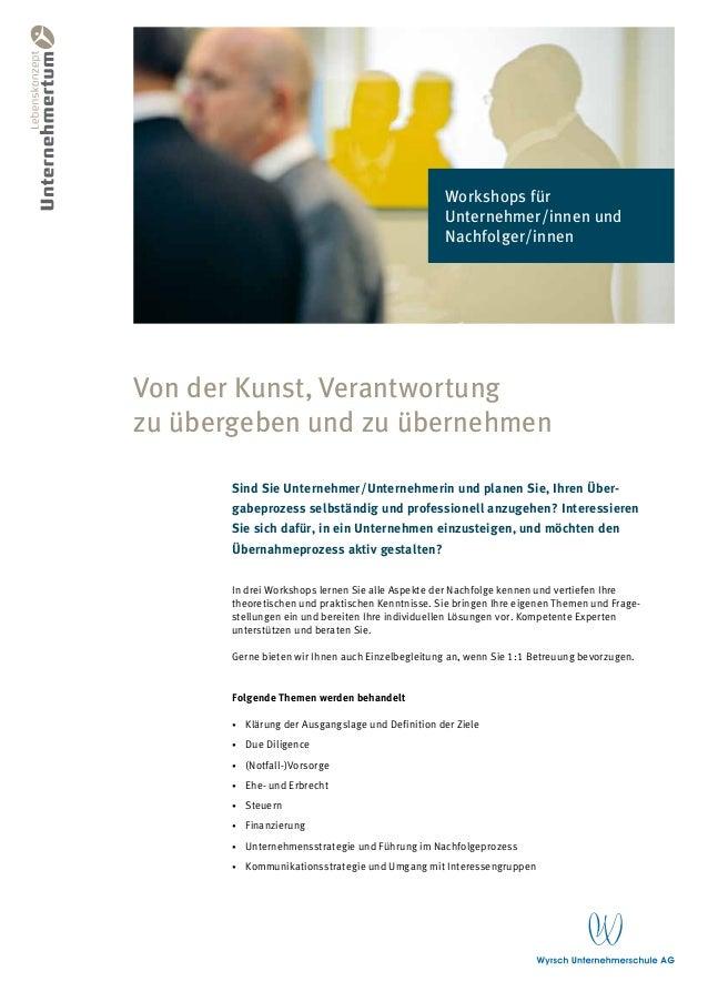 Workshops für                                                     Unternehmer/innen und                                   ...