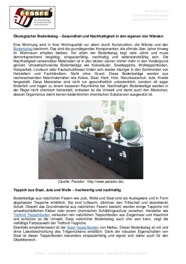 kologischer bodenbelag gesundheit und nachhaltigkeit in. Black Bedroom Furniture Sets. Home Design Ideas