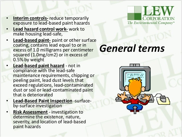Lead based paint the past the present and the future for Lead based paint inspection