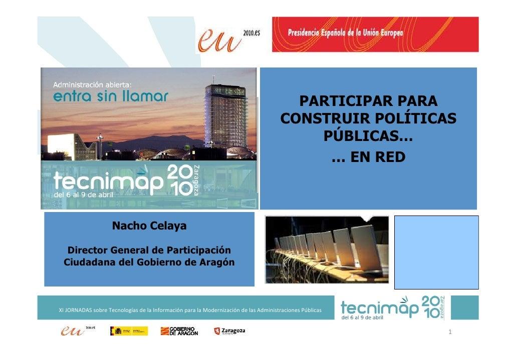 PARTICIPAR PARA                                                                                      CONSTRUIR POLÍTICAS  ...