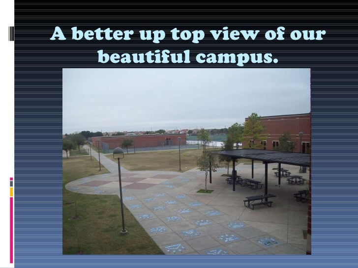 A better up top view of our beautiful campus.