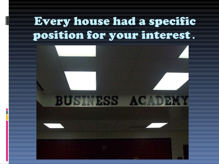 Every house had a specific position for your interest .