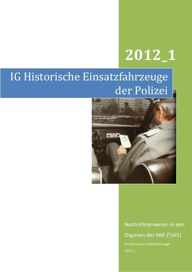 2012_1IG Historische Einsatzfahrzeuge                     der Polizei                       Nachrichtenwesen in den       ...