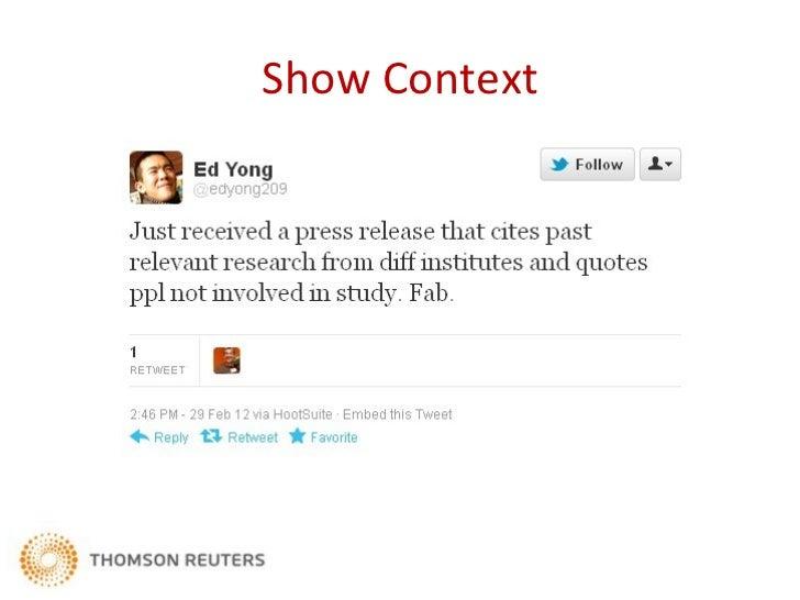 Show Context